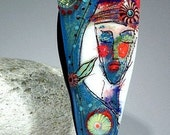 Gypsy Lady - Lampwork focal bead by Astrid Riedel