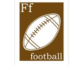 F is for Football 8x10 inch print by Finny and Zook