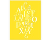 ABCs 11x14 inch print by Finny and Zook