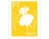F is for Fairy 8x10 inch print - Finny and Zook