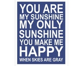 You Are My Sunshine... 16x20 inch print by Finny and Zook