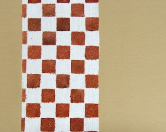 placemat table mat modern checkerboard beige white and brown kitchen placemat dining room placemat
