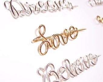 Pendant or Pin . Wire Name Pendant or Pin . Personalized . Custom . Wire Name Jewelry . Wire Word