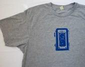 Vintage Camera T Shirt - Unisex Heather Tshirt, camera screen print, antique, silkscreen, Duaflex twin reflex