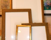 Set of 4 Antique/ Dark Gold Picture Frames - Wedding Tables Favors Gifts