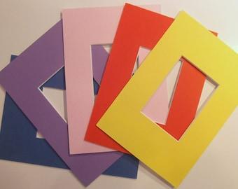 """Lot of 50 acid free pre-cut mats 5 x 7"""" - ACEO"""