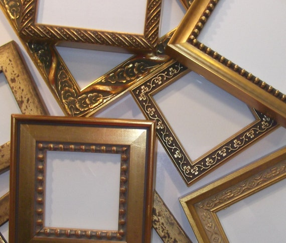 50 Small Gold Frames for Wedding Party Favors Bridesmaids Gifts Bridal Shower