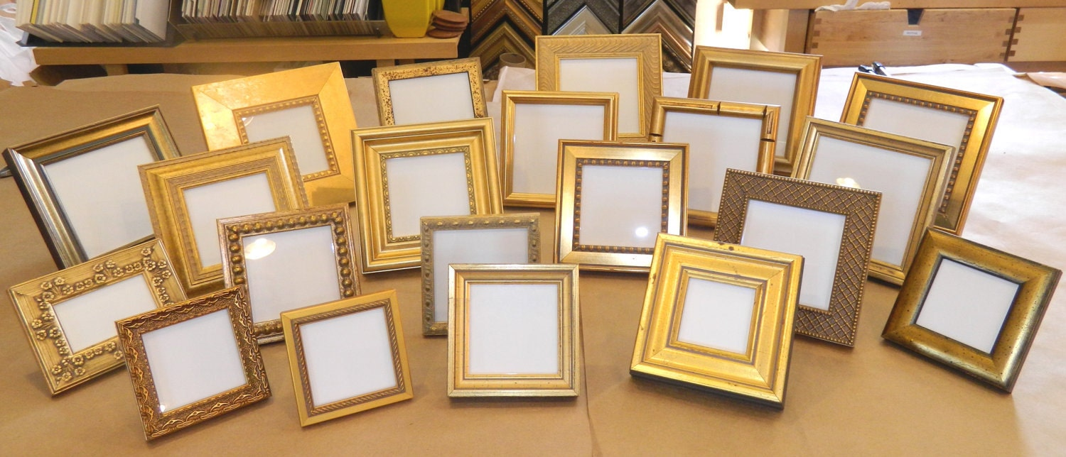 30 Small Gold Frames For Wedding Party Favors Bridesmaids