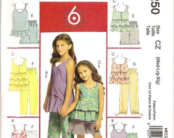 McCalls MP250 Girls Summer Tops and Pants Pattern