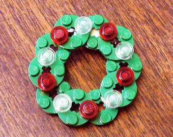 Wreath with Ornaments Pin