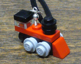 Red Mini Train Engine Necklace
