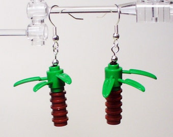 Mini Palm Tree Dangle Earrings