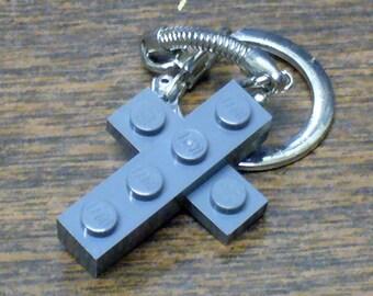 Mini Dark Grey Cross Key chain