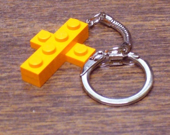 Mini Orange Cross Key chain
