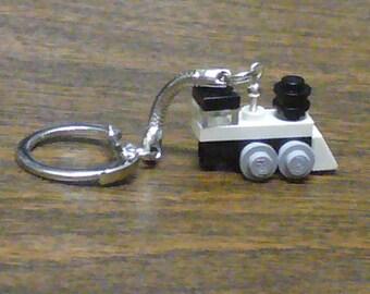 White Mini Train Engine Key chain