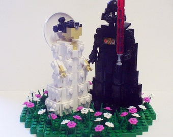 Vader and Amidala Cake Topper in Flower Patch