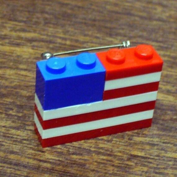 LEGO American Flag Pin