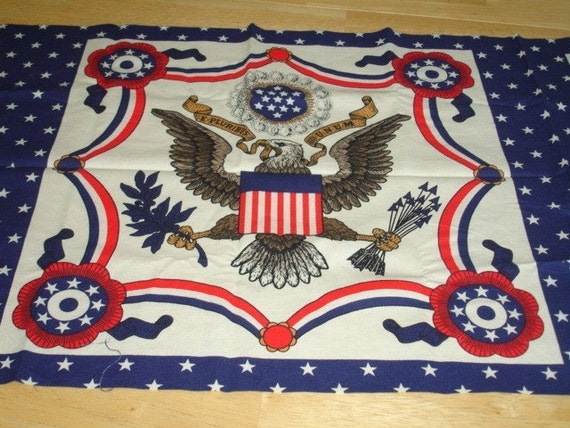 Vintage Patriotic Eagle Fabric Panel By Kbexquisites On Etsy