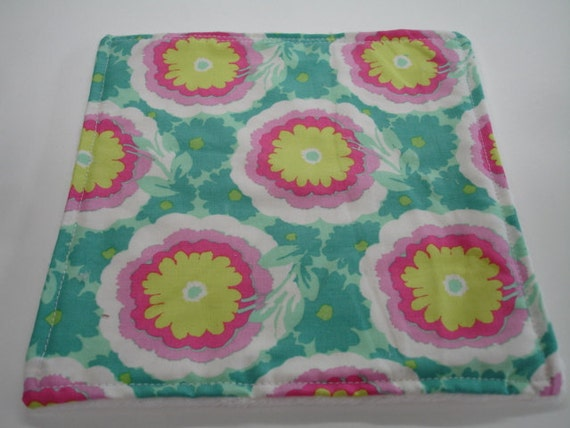 Buttercups Baby Burp Cloth with Minky