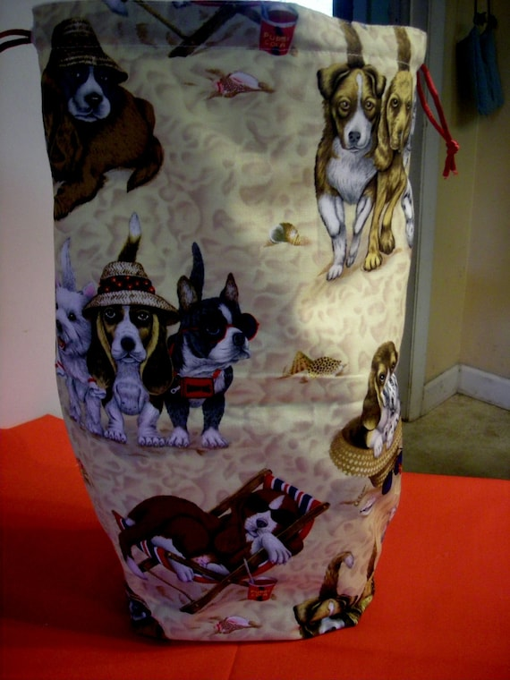 The Tall Project Bag  Beach Dogs  B - 27