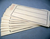 "ENVELOPES - ASIAN envelopes - off white - grey - red - NOS - vintage - set of 8 - 3.5"" x 8"""