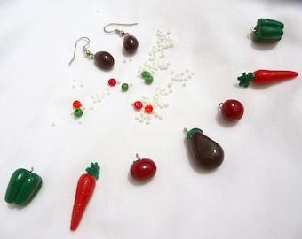 DIY bead kit - veggie garden JEWELRY MAKING set