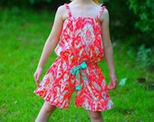 Tropical Summer Time Romper - Available sizes: nb 6m 12m 18m 2T 3T 4T 5 6 7 8
