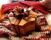 Handmade Exotic Wood Bow Box OOAK/Coupon