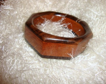 Wooden Octagonal Bracelet  Handmade from reclaimed woods Gifts Under 40 Dollars