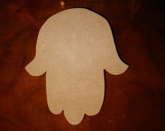 Hamsa Hand Unfinished Mdf Wood Mosaic Base 5 Inch Tall  1/4 inch Thick