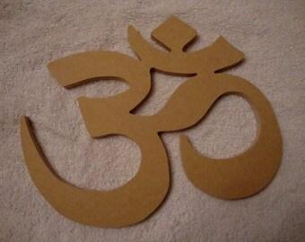 Om Aum Symbol 5.5 x4 Unfinished Mdf Wood Shape Mosaic Base Handmade