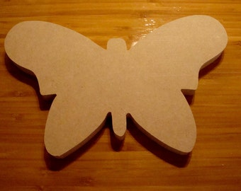 Butterfly Mosaic Base Unfinished Mdf Wood Craft Shape