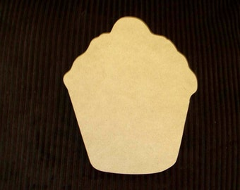 Unfinished Mdf Cupcake  Mosaic Base/Craft Shape Half Inch Thick