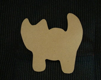 Cat Shape Unfinished Mdf Mosaic collage paint or scrapbook base