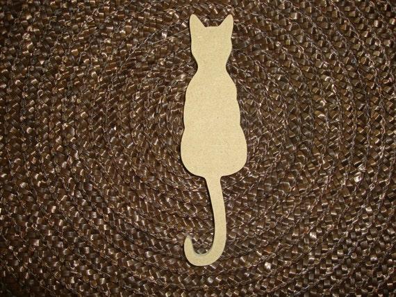 Handmade 9 Inch MDF Wood  cat shape mosaic base