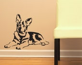 German Shepherd GSD - Vinyl Wall Decal - Your choice of color