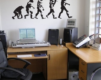 Evolution of Man - Wall Decals - Your Choice of Color