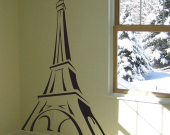 Eiffel Tower Sketch - Wall Decals - Your Choice of Color