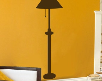 Floor Lamp - Wall Decal - Your Choice of Color
