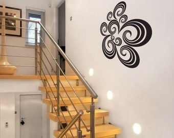 Black Swirls Wall Decoration - Wall Decals - Your choice of Color