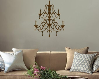 Fancy Chandelier - Vinyl Wall Decal - Your Choice of Color