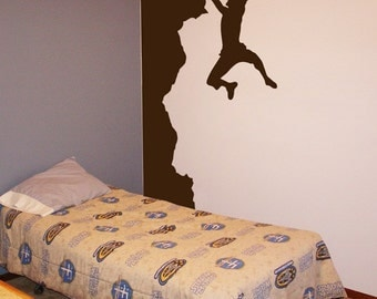 Rock Climber - Made for the Corner - Wall Decals - Your Choice of Color