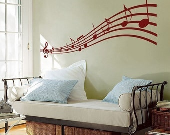 Music to my Eyes - Musical Notes - Wall Decals - Your Choice of Color