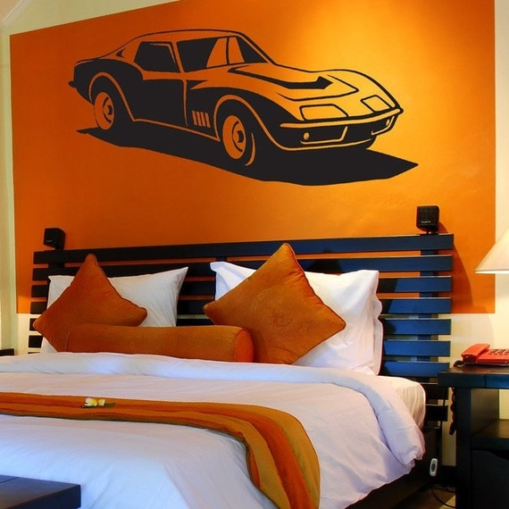 Classic Muscle Car Vinyl Wall Decals Your Choice Of Color