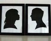 Custom couple portraits (pair)