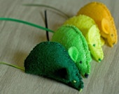 Pair of Mice - Hand Sewn - with Catnip