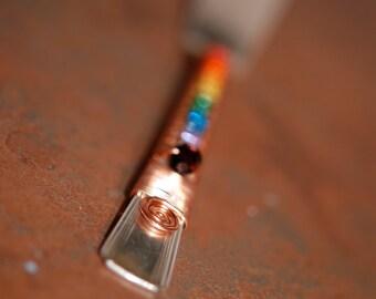 Rainbow Silver Knife