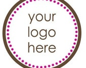 Custom Personalized Logo Stickers, Labels, Tags, Cupcake Toppers, Return Address Labels, Various Sizes
