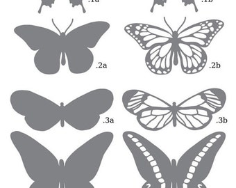 Butterflies SVG and DXF Files
