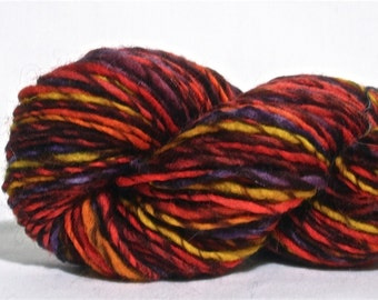 Handspun Yarn - Worsted Weight Wool Singles - 115 yards of Carnival of Souls